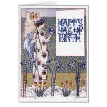 Vintage Happy Birthday Greeting Card