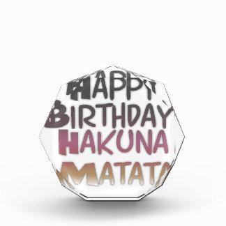 Vintage Happy Birthday Hakuna Matata Purple Inspir Acrylic Award