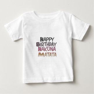 Vintage Happy Birthday Hakuna Matata Purple Inspir Baby T-Shirt