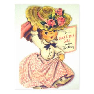 Vintage Happy Birthday Little Girl Postcard