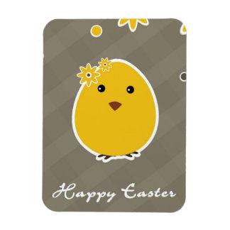 Vintage Happy Easter background Rectangular Photo Magnet