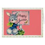 Vintage Happy Easter Bunny Card
