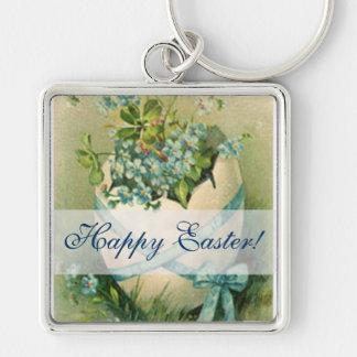 Vintage Happy Easter Designs Keychain