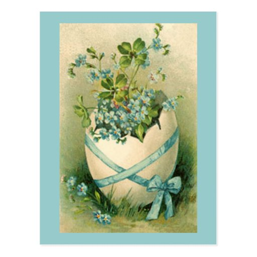 Vintage Happy Easter Designs Postcard