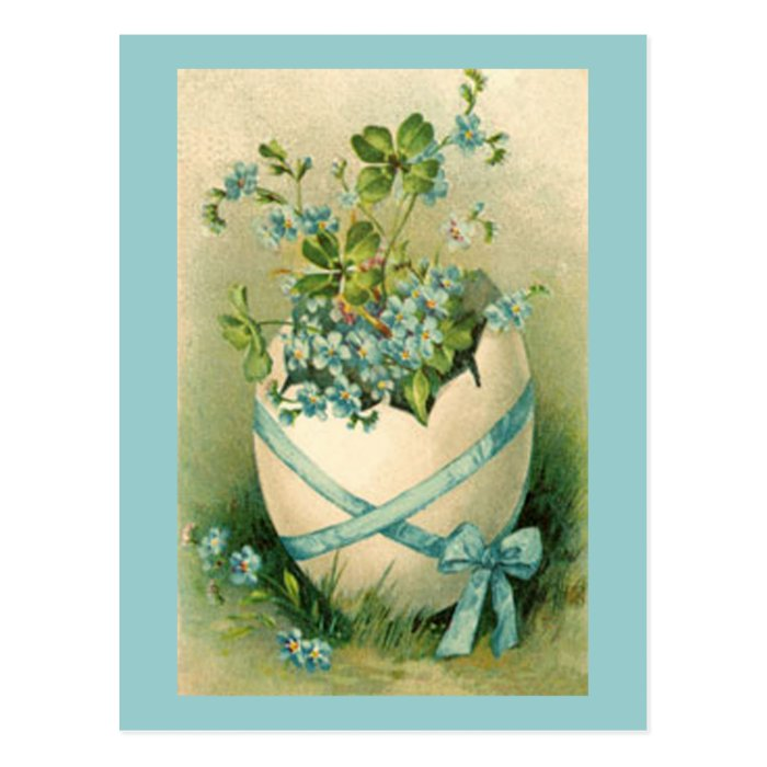 Vintage Happy Easter Designs Postcard