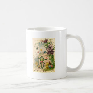 VINTAGE HAPPY EASTER FROG COFFEE MUG