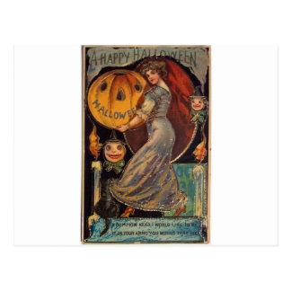Vintage Happy Halloween card, Jack Olantern Postcard