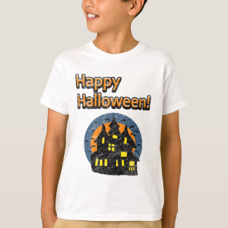 Vintage Happy Halloween Haunted House T-Shirt