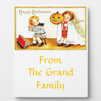 Vintage Happy Halloween Kids Plaque