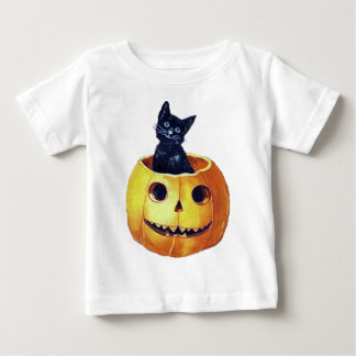 Vintage Happy Halloween Kitty in a Pumpkin T Shirts