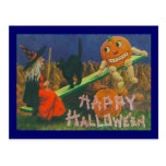 Vintage Happy Halloween Play Time Post Card