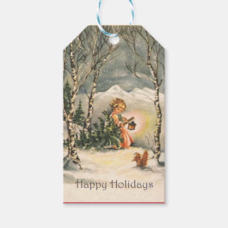 Vintage Happy Holidays Holiday Gift Tags