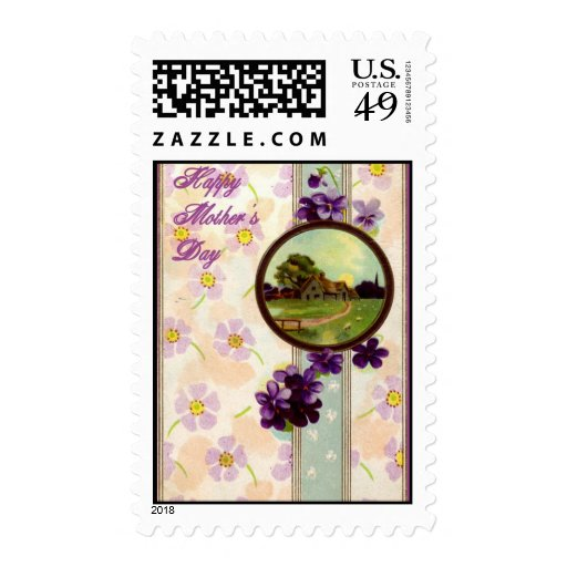 Vintage - Happy Mothers Day Postage Stamps