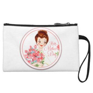 Vintage Happy Mother's Day Wristlet Wallet