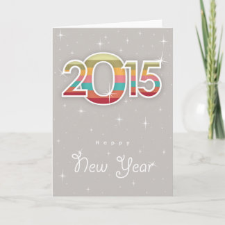 Vintage Happy New Year 2015 #2 Holiday Card