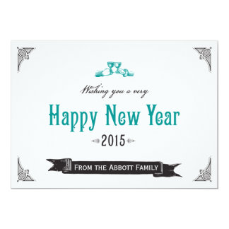 Vintage Happy New Year card Personalized Announcement