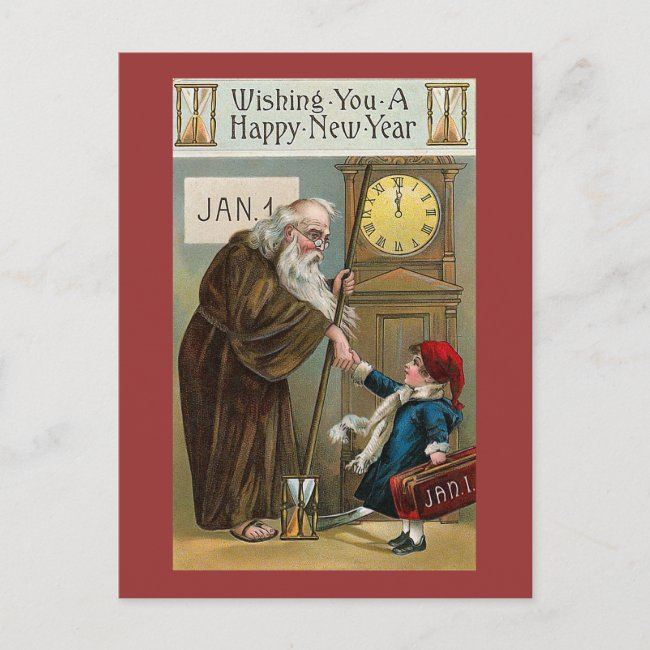 Vintage Happy New Year Holiday Postcard