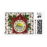 Vintage Happy New Year Postage Stamps