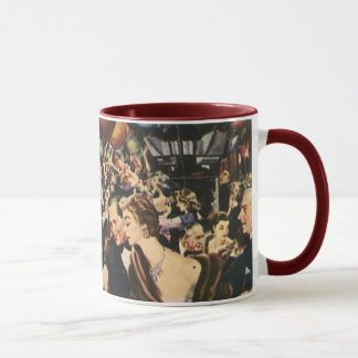 Vintage Happy New Year's Eve Party and Balloons Mug