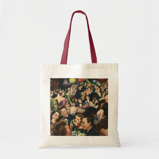 Vintage Happy New Year's Eve Party and Balloons Tote Bag
