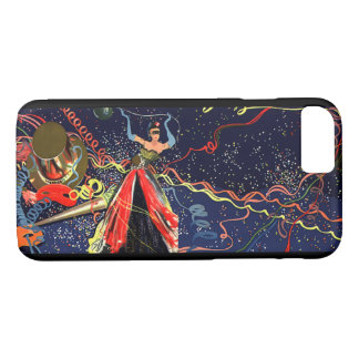 Vintage Happy New Years Eve Party with Confetti iPhone 7 Case