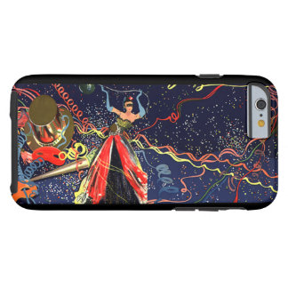 Vintage Happy New Years Eve Party with Confetti Tough iPhone 6 Case