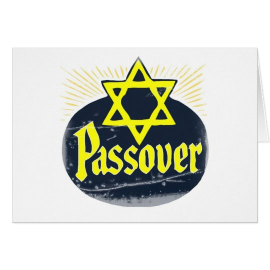 Vintage Happy Passover Card