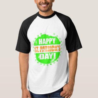 Vintage Happy Saint Patricks Day Logo Tee Shirt