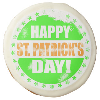 Vintage Happy Saint Patricks Day Sugar Cookie