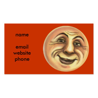 Vintage Happy Smiling Moon Business Card