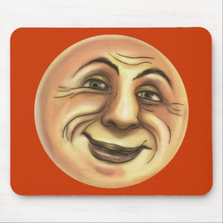Vintage Happy Smiling Moon Mouse Pad