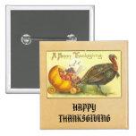 Vintage Happy Thanksgiving Button