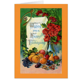 Vintage Happy Thanksgiving Card Reproduction