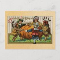 Vintage Happy Thanksgiving Holiday Postcard