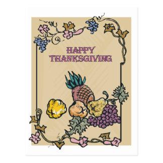 Vintage Happy Thanksgiving Poster Postcard