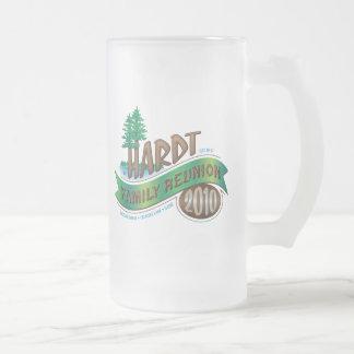 Vintage Hardt Family Reunion 16 Oz Frosted Glass Beer Mug