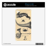 Vintage Hare Alice In Wonderland Themes Skin Decal For iPhone 4