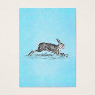 Vintage Hare Bunny Rabbit Illustration -Rabbits Business Card