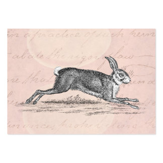 Vintage Hare Bunny Rabbit Illustration - Rabbits Large Business Card
