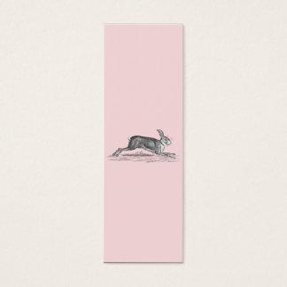 Vintage Hare Bunny Rabbit Illustration -Rabbits Mini Business Card