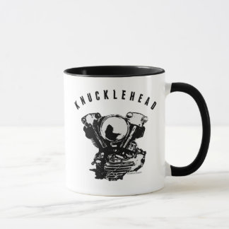 Vintage Harley Knucklehead Motorcycle Engine Mug
