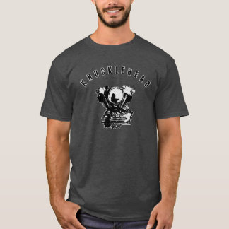 Vintage Harley Knucklehead Motorcycle Engine T-Shirt
