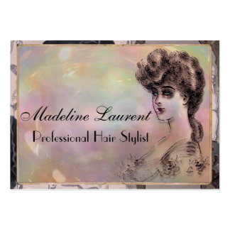 """Vintage Harlowe Hair Professional 3.5"""" x 2.5"""" Business Cards"""