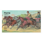 Vintage Harness Racing Business Cards