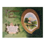 Vintage Harp of Erin Horseshoe St Patrick's Day Ca Postcard