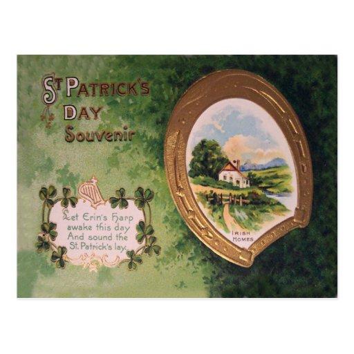 vintage harp of erin horseshoe st patrick 39 s day ca. Black Bedroom Furniture Sets. Home Design Ideas