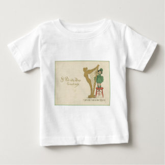 Vintage Harp Of Erin St Patrick's Day Card Baby T-Shirt