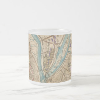 Vintage Harpers Ferry Civil War Map (1862) Frosted Glass Coffee Mug