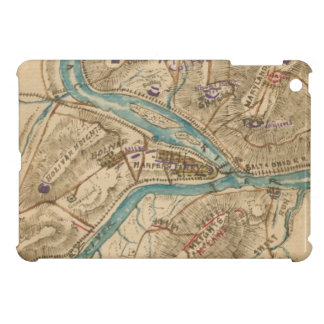 Vintage Harpers Ferry Civil War Map (1862) iPad Mini Cases