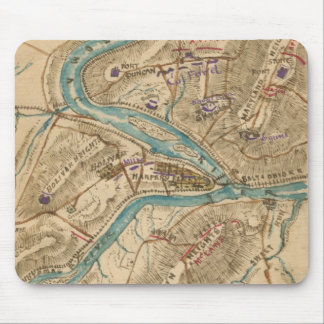 Vintage Harpers Ferry Civil War Map (1862) Mouse Pad